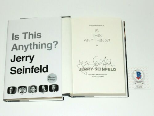 JERRY SEINFELD SIGNED 'IS THIS ANYTHING?' BOOK 1st FIRST EDITION BECKETT COA BAS