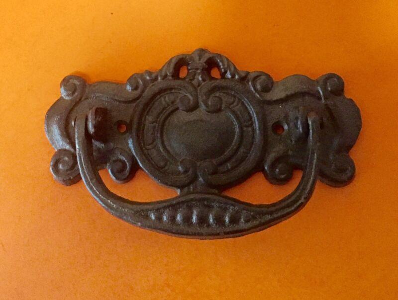 Large Cast Iron Door Knocker  Heavy Victorian Design Front Door Vintage Look