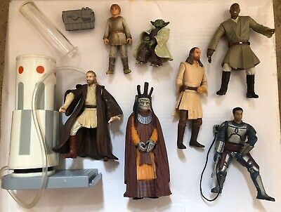 Star Wars Mixed Lot Bundle Figures Episode 1 AOTC EP1 X7 Mace Gunray Fett Weapon