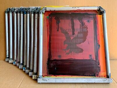 Lot Of 10 Newman Roller Frames 20 X 22 W Locking Strips Silk Screen Printing