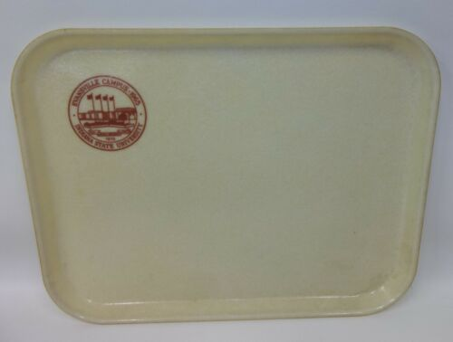 Vtg Indiana State University Evansville IN Campus Cafeteria Tray