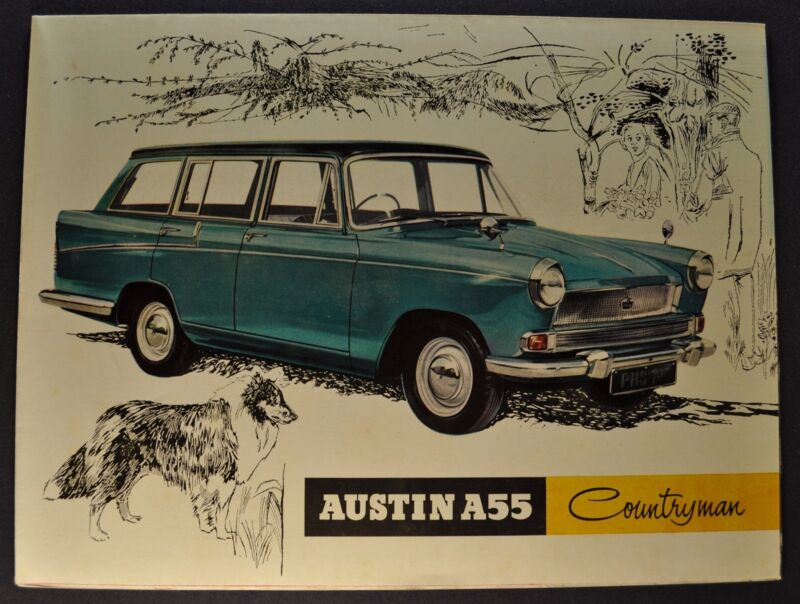 1960-1961 Austin A55 Countryman Sales Brochure Folder Excellent Original
