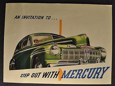 1946 Mercury Sales Brochure Folder Excellent Original 46 Not A Reprint