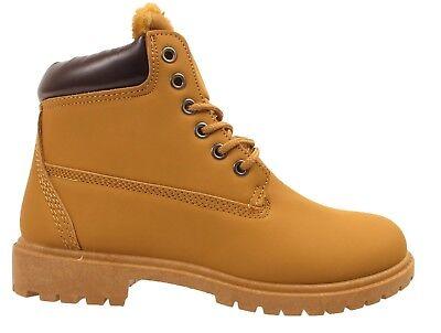 LADIES ANKLE BOOTS WOMENS LACE UP MILITARY COMBAT WORKER CELEB SHOES SIZE UK 3-8 (Combat Schuhe Für Frauen)