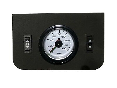 Dual Needle - Air Ride Suspension Dual Needle Air Gauge Panel 200psi 2 Rocker Switch Control