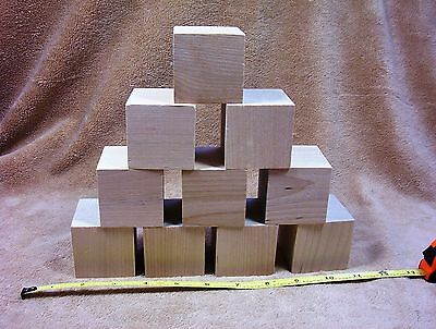 Wood Cube - Unfinished Hard Wood Wooden Birch 2