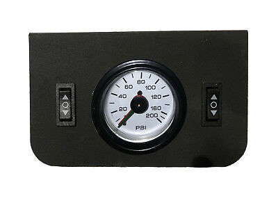 Dual Needle - Air Ride Suspension Dual Needle AirGauge Panel 200psi 2 Rocker Switch Controlxzx
