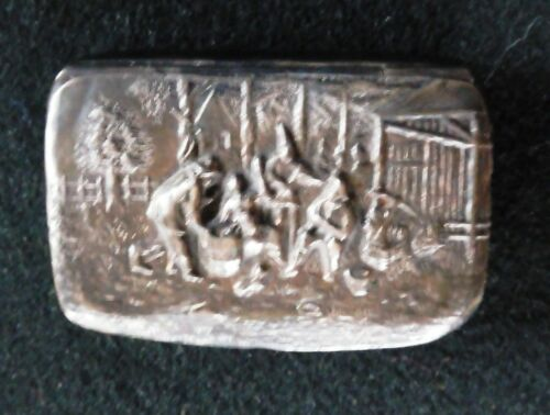 Small Danish Silver Pill Box