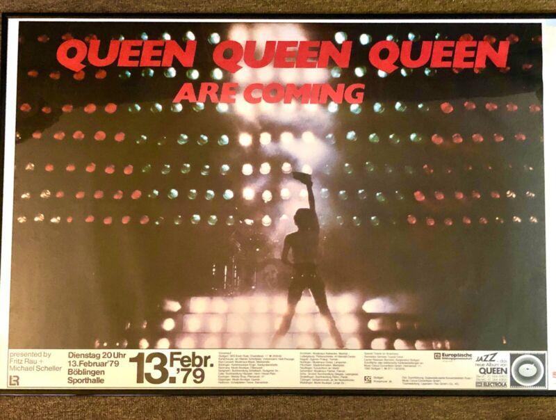 queen concert poster original