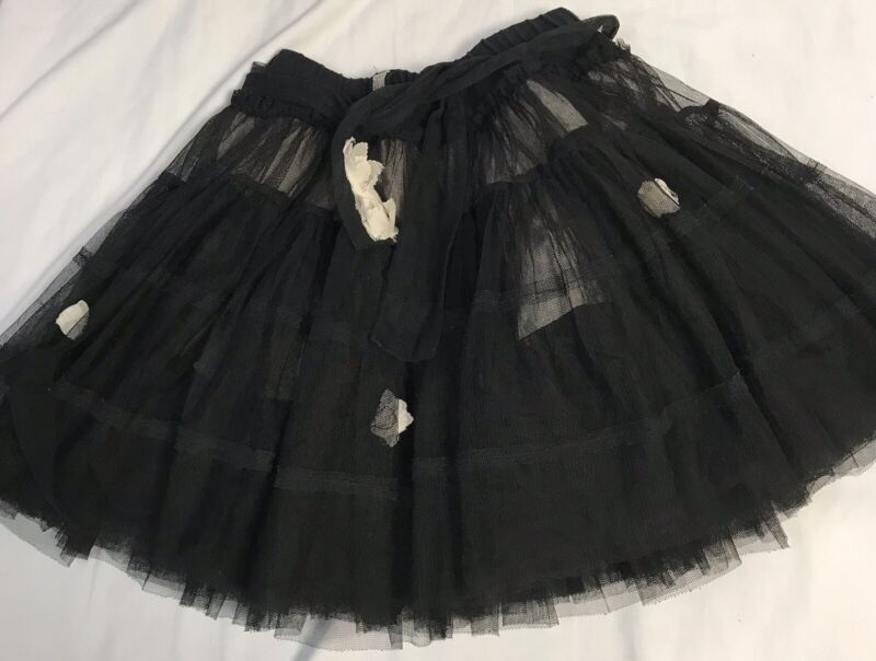 Elaine Et Lena Black Tulle Girls Black Full Skirt  Size 6A 6 A