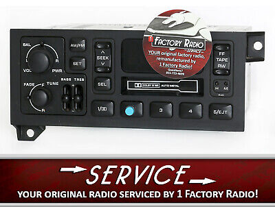 Reman & Bluetooth Mod SERVICE for 78-02 Chrysler Dodge Jeep AM FM CS P56038933AB