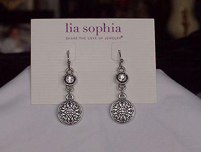 Beautiful Lia Sophia Scrapbook Dangle Earrings  Nwt