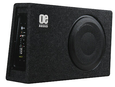 "OE AUDIO 12"" Sub woofer built in AMP Amplified Active Slim Shallow bassbox"