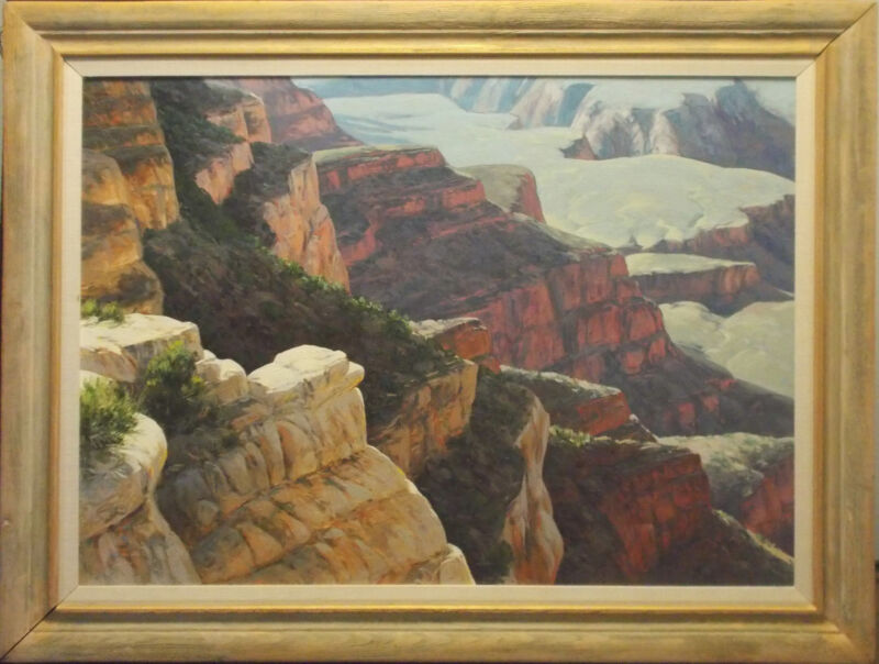 Western Artist Myers Large Oil On Canvas Painting Fantastic Art Best Offerwanted