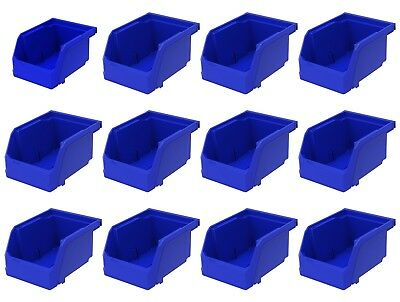 12 Pack 5 38 X 4 18 X 3 Plastic Inventory Storage Stacking Shelf Parts Bins