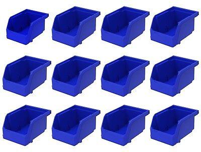 12 Pack 5 38 X 4 18 X 3 Plastic Inventory Storage Stacking Shelf Parts Bins