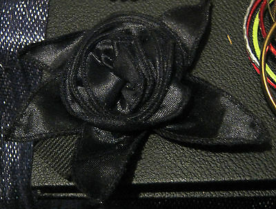 Lovely chic Goth style flower design fabric hear band