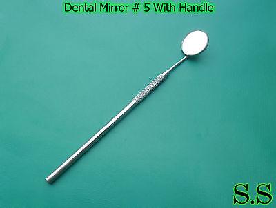 10 Dental Mouth Mirror 5 Whandle Dental Instrument