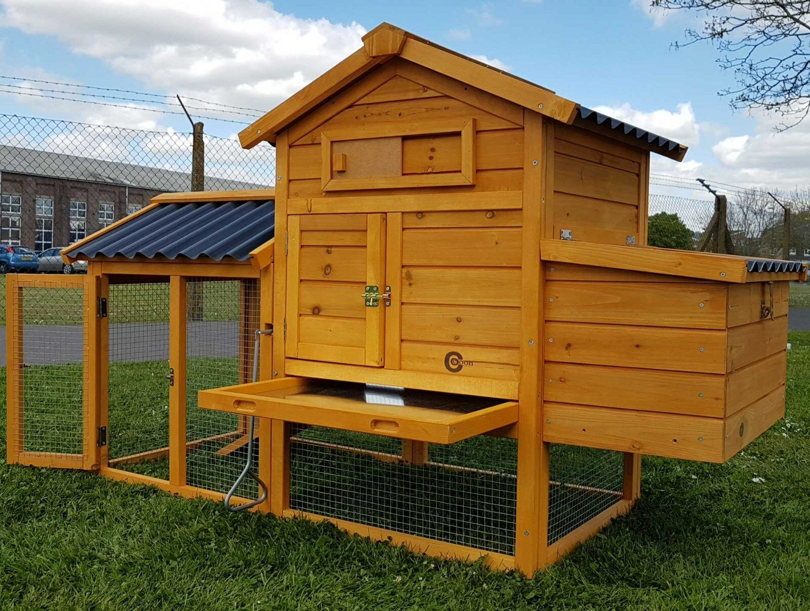 Large chicken coop rabbit hutch my chicken coop for Duck hutch plans