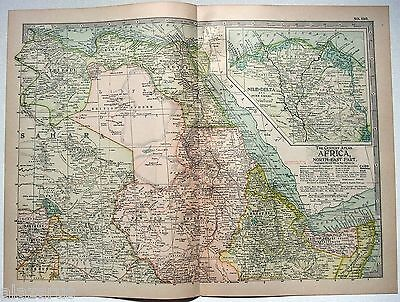Original 1902 Map of Northeastern Africa - A Nicely Detailed Lithograph