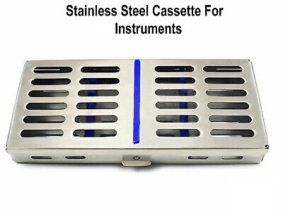 Dental Surgical Autoclave Sterilization Cassette Rack Box Tray For 7 Instrument