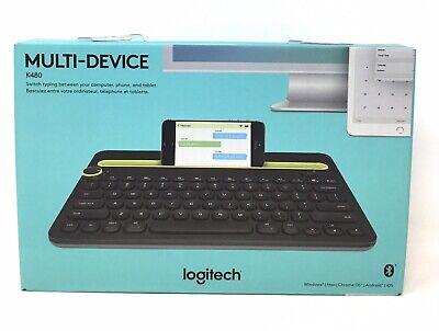 Logitech K480 Bluetooth Multi-Device Keyboard, Black, Computer/Phone/Tablet