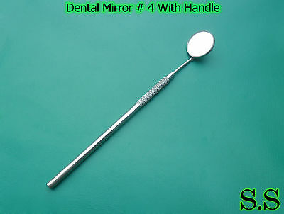2 Dental Mouth Mirror 4 Whandle Dental Instruments