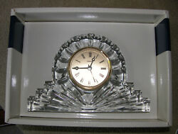 ILLUSIONS MANTLE CLOCK STYLE #19240/12 ~ Cut Crystal
