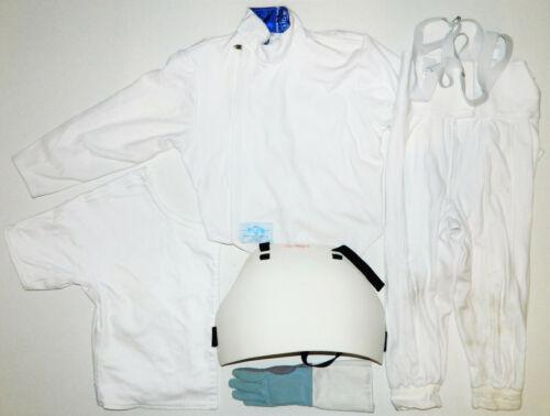Kids Blue Gauntlet Fencing Lot Jacket Pants Left Glove Underarm Chest Protector