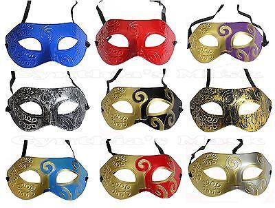 Wholesale 12pcs Roman Greek Men's Venetian Masquerade Mask Assorted Color New - Venetian Masks Wholesale
