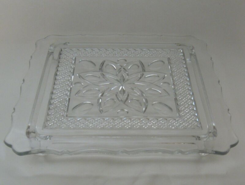 "Imperial Cape Cod Square Cake Plate 10"""