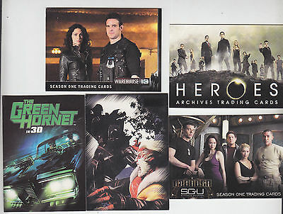 2010 Sdcc Comic Con Rittenhouse Promo Card Set Of 5 Heroes Stargate Marvel   Cpi