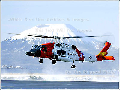 Photo  Coast Guard Hh 60 Jayhawk   Edgecumbe Volcano  Sitka  Alaska  2006