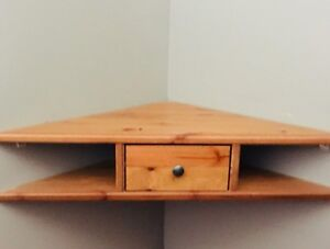 2 Corner shelves with drawer from Ikea