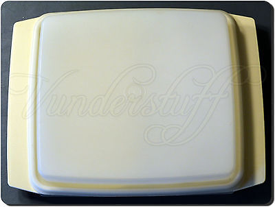 Vintage Tupperware Deviled Egg Carrier, Almond with White Trays & Sheer Lid