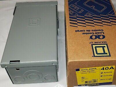 Square D Qo2l40rb 120240 Volt 40 Amp 2 Space Outdoor Load Center Electrical Box
