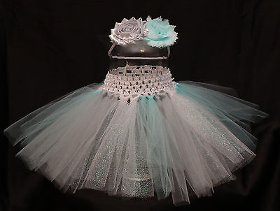 Baby Girl Halloween Princess Elsa Tutu Skirt Headband Photo Prop Costume Outfit  - Infant Girl Halloween Costumes Princess