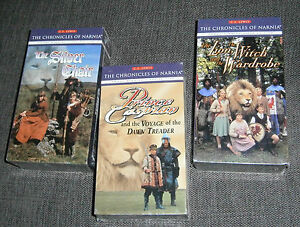 SEALED New Lot The Chronicles of Narnia VHS Tapes Silver