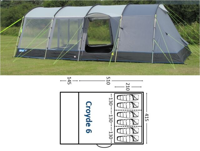 Kampa Croyde 6 (series 3) berth person man camping family tent