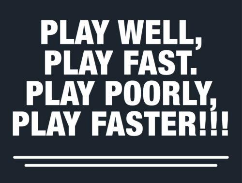 "Play Well, Play Fast Golf Logo Decal - 2.25"" x 3"" - Seminole"