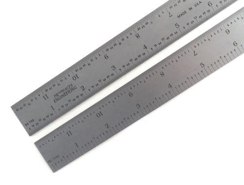 "Blem Cosmetic Second PEC 12"" Flexible Satin 5R 10/100/32/64ths machinist ruler"
