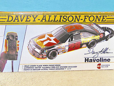 Telephone Corded Land Line Car shape Davey Allison Fone autograph lights for sale  Shipping to India