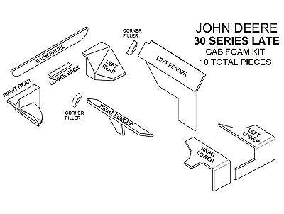 John Deere Tractor Interior Restoration Replacement Cab Kit Vinyl 4030 4430 4630
