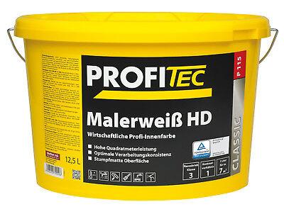 PROFITEC P 115 Malerweiß HD 12,5 Liter weiß - hohe Quadratmeter-Leistung