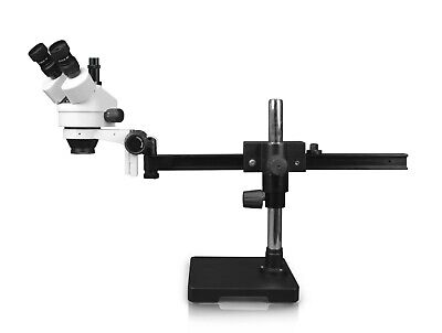 Parco 7x45xsimul-focal Trinocular Zoom Stereo Microscopegliding Arm Boom Stand