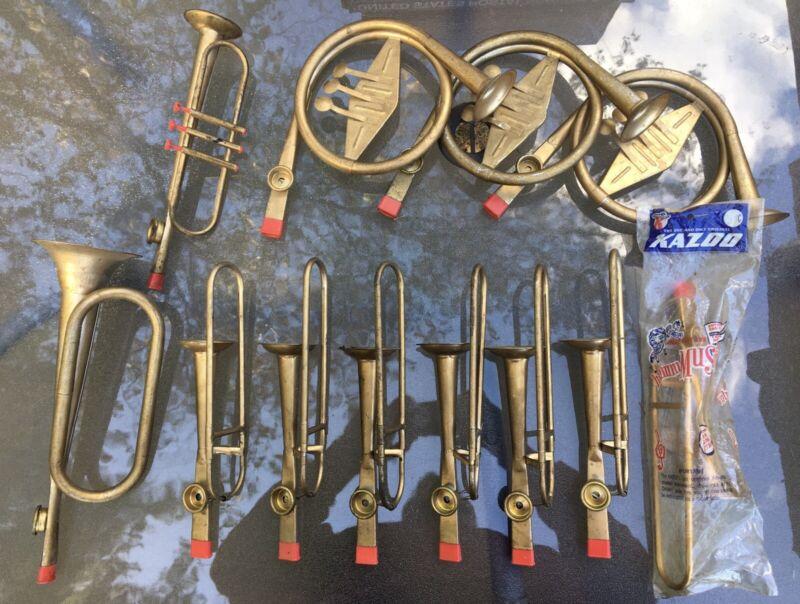 Kazoo Instrument Lot Of 12 Tin Original Kazoo Vintage