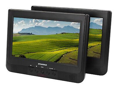 "Sylvania 10.1"" Dual Screen Portable DVD Player w/ Remote & Car Seat Mount"