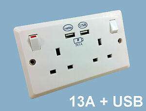 plug socket with usb
