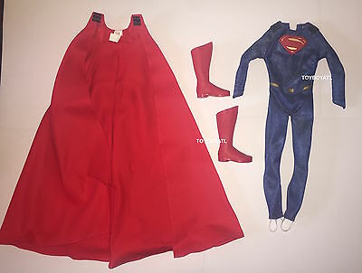 Barbie Batman V Superman Muscular Ken Doll Outfit Uniform Cape Boots NEW Costume