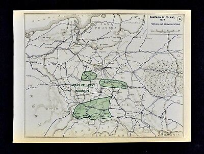 West Point WWII Map Campaign Poland 1939 Terrain Communications Warsaw Industry